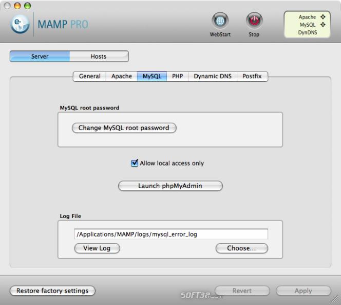 MAMP Pro & MAMP Screenshot 4