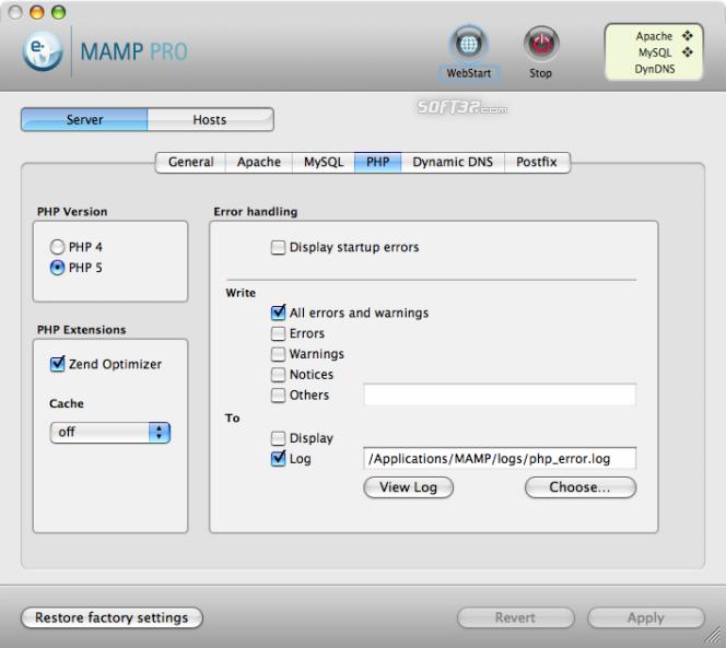 MAMP Pro & MAMP Screenshot 5