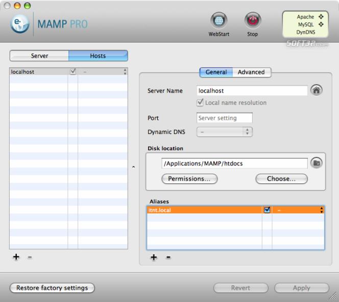 MAMP Pro & MAMP Screenshot 8