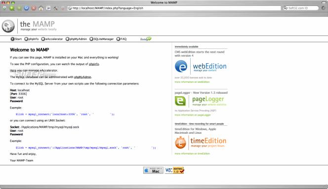 MAMP Pro & MAMP Screenshot 10