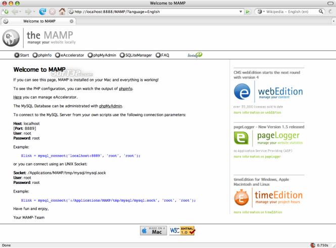MAMP Pro & MAMP Screenshot