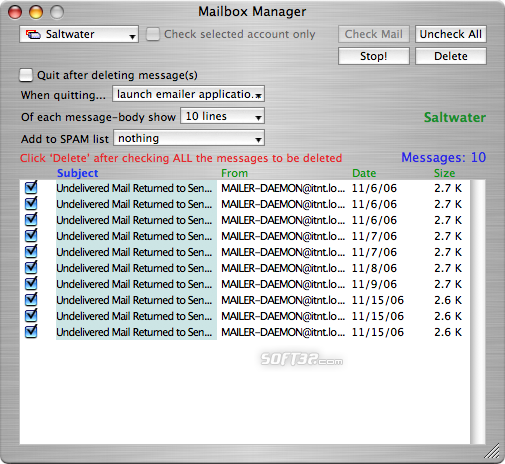 Mailbox Manager Screenshot