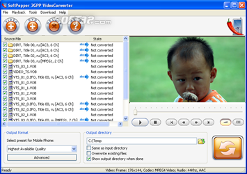 SoftPepper 3GP Video Converter Screenshot