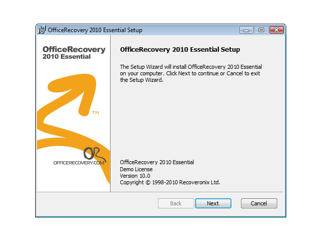 OfficeRecovery Essential Screenshot 1