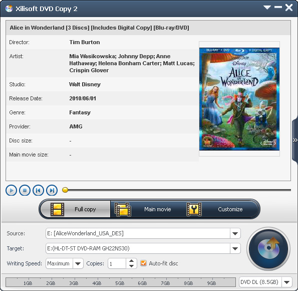 Xilisoft DVD Copy Express Screenshot