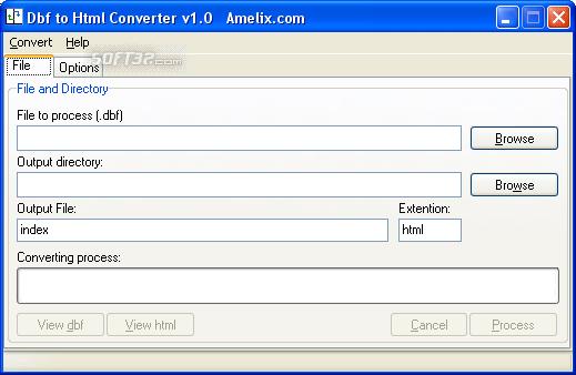 Amelix DBF to Html Converter Screenshot