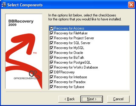 DBRecovery Screenshot