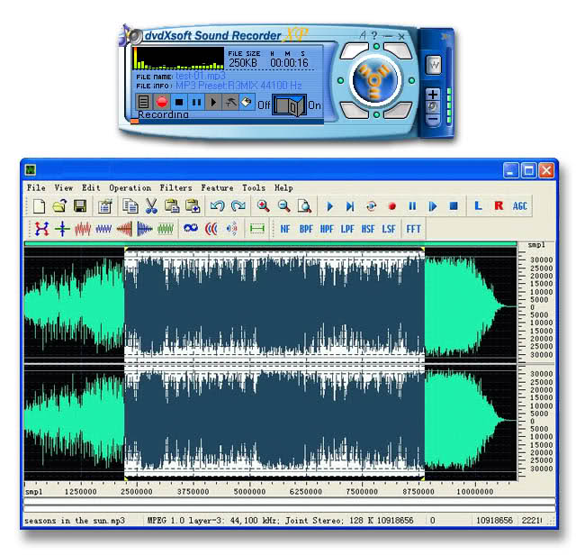 SOUND RECORDER XP Screenshot