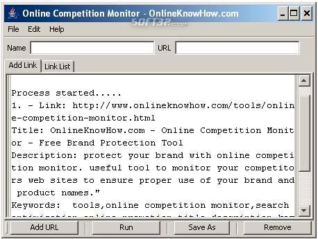 Online Competition Monitor Screenshot 1