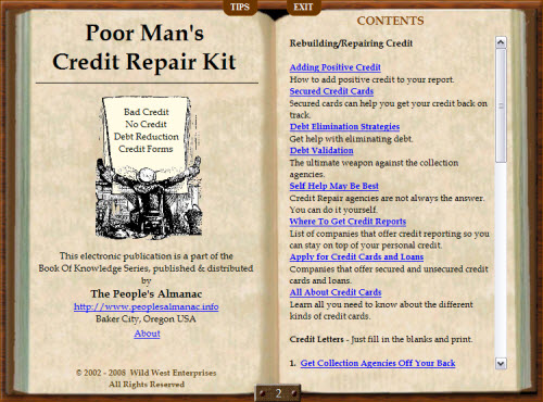 Poor Mans Credit Repair Screenshot 1