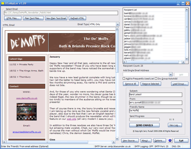 HTeMaiLer Screenshot