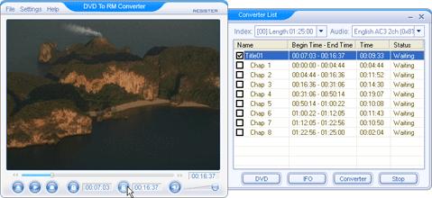 DVD To RM Converter Screenshot 1