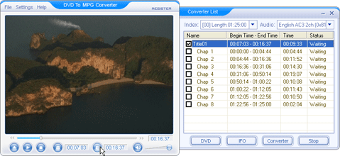 DVD To MPG Converter Screenshot 1