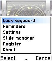 Niceclock S60 for Symbian v7,8 Screenshot 1