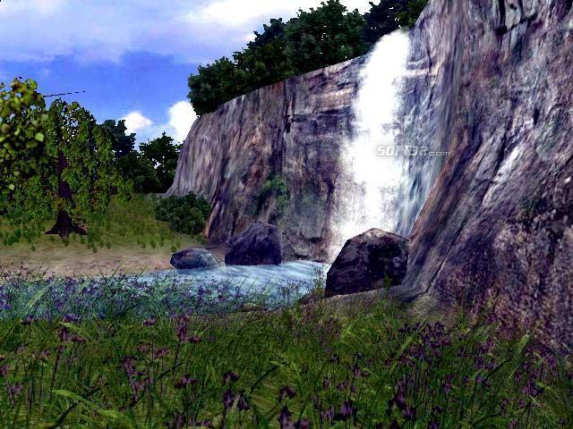 3D Living Waterfall Screensaver Screenshot 2