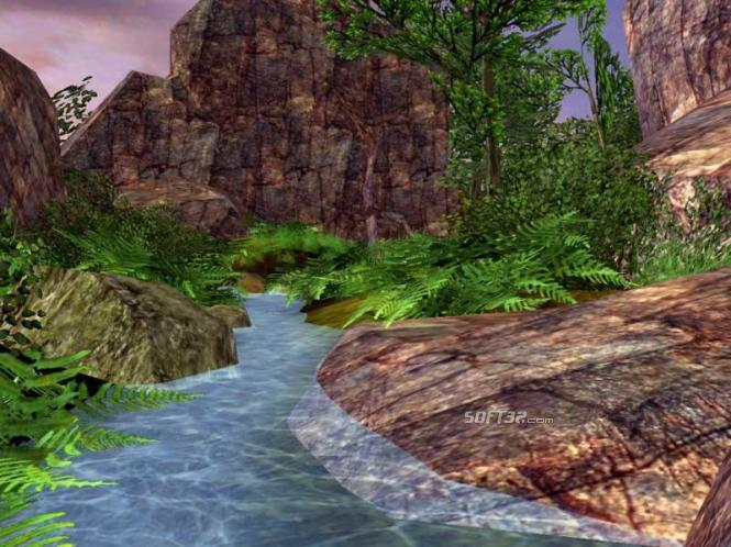 Spring Valley 3D Screensaver Screenshot 2