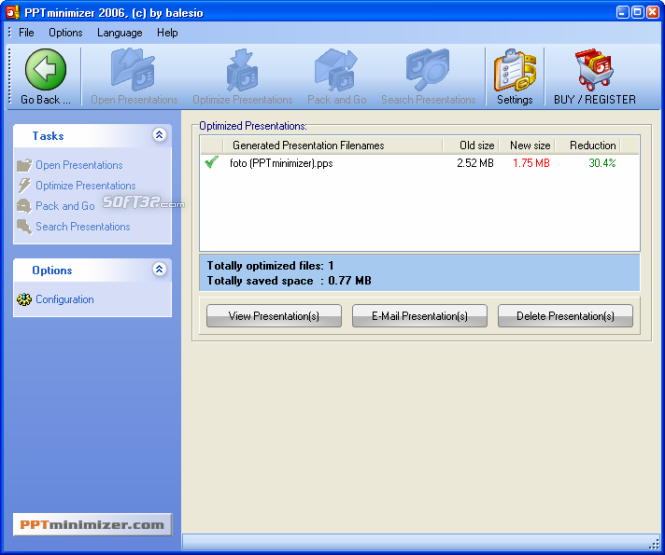 FILEminimizer Office Screenshot 4