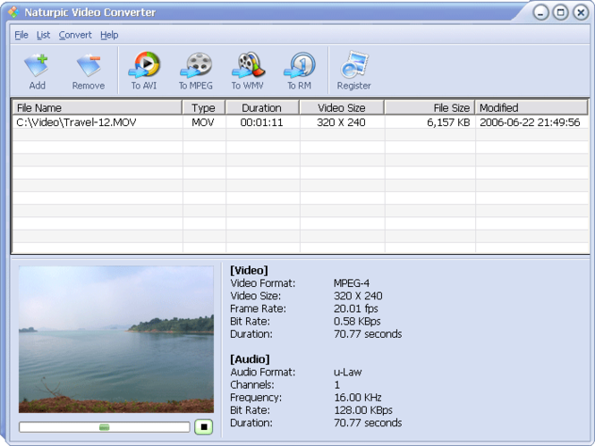 Naturpic Video Converter Screenshot 1