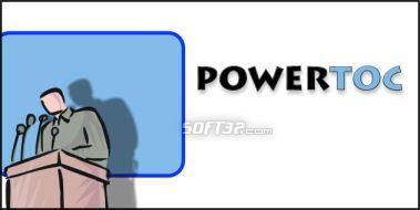 PowerTOC Screenshot 2
