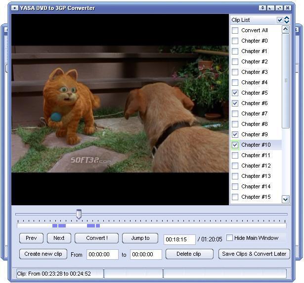 YASA DVD to 3GP Converter Screenshot 2