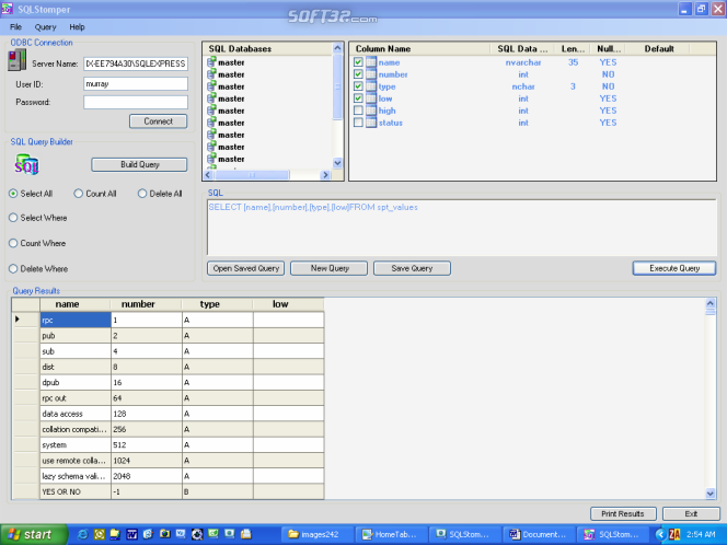 SQLStomper Screenshot