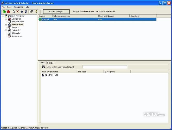 Internet Administrator for Microsoft ISA Server Screenshot 2
