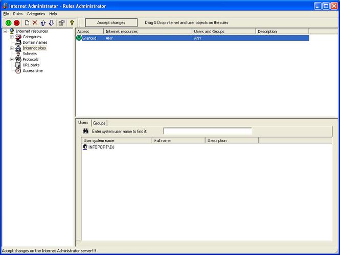 Internet Administrator for Microsoft ISA Server Screenshot 1