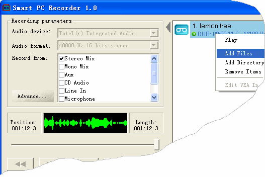 Smart PC Recorder Screenshot 1