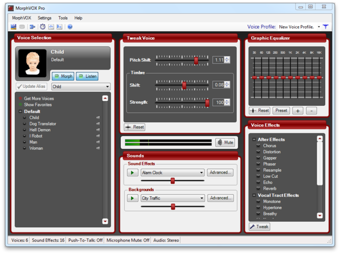 MorphVOX Pro Voice Changer Screenshot 1