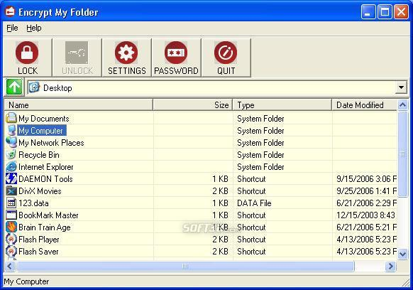 Encrypt my Folder Screenshot 2