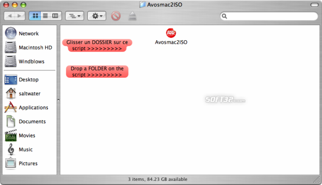 Avosmac2ISO Screenshot 1