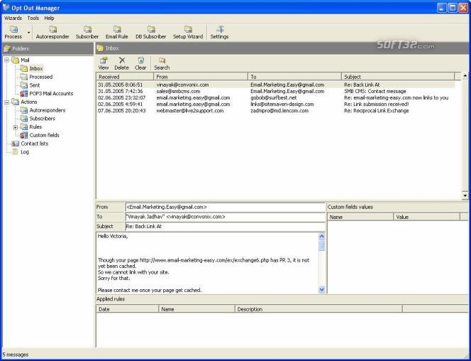 OptOut Manager Screenshot 3