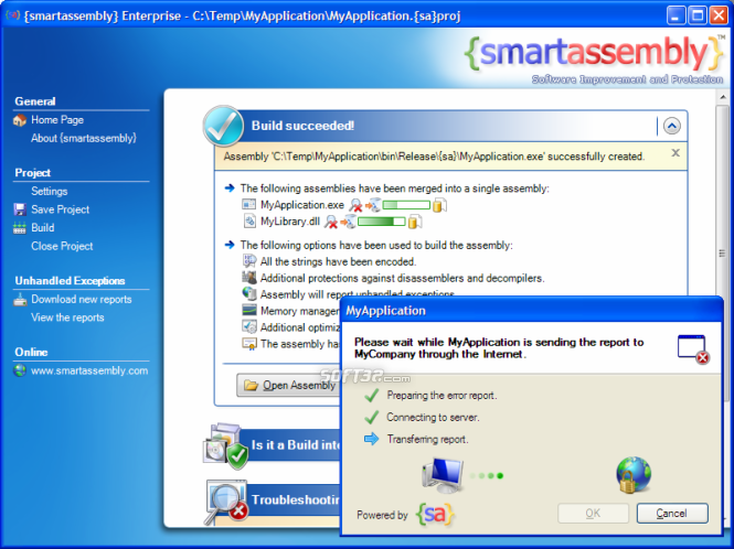 {smartassembly} .NET Obfuscator Screenshot 3