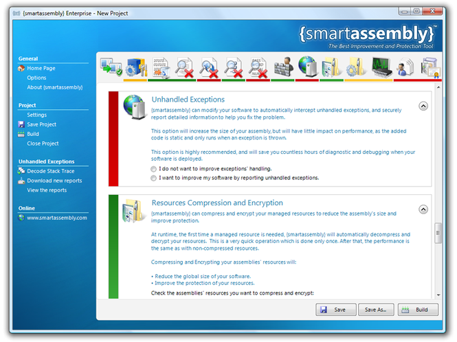 {smartassembly} .NET Obfuscator Screenshot