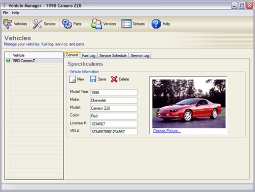 Vehicle Manager Screenshot 1