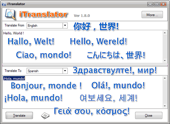 iTranslator Screenshot 1