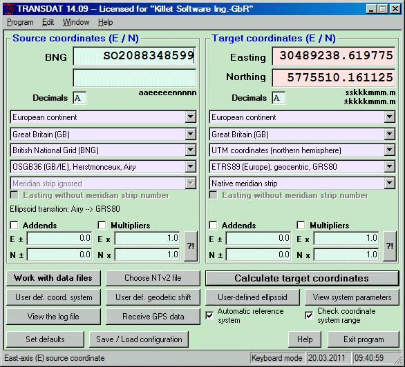 TRANSDAT (English) Screenshot 1