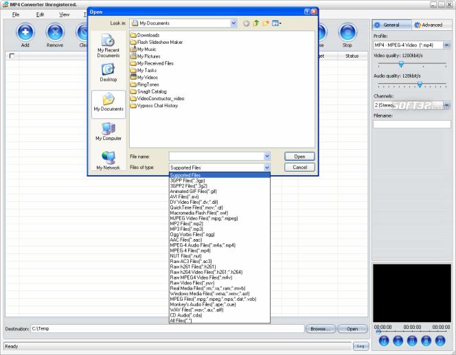 4Media MP4 Converter Screenshot 2
