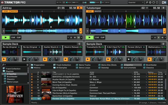 traktor dj software free download
