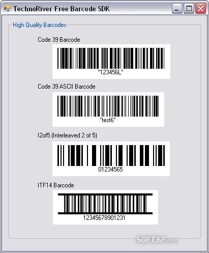 Technoriver Free Barcode SDK Screenshot 3