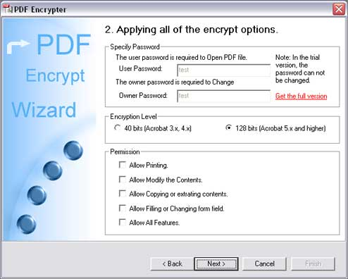 PDF Encrypter Screenshot