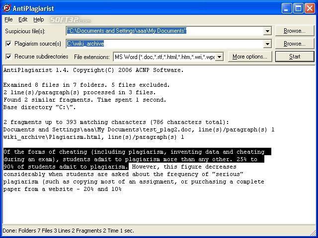 AntiPlagiarist Screenshot 3