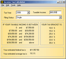 Income Tax Calculator Screenshot 1