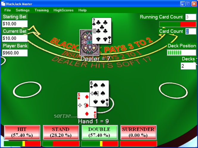 DannyVegas BlackJack Screenshot 1
