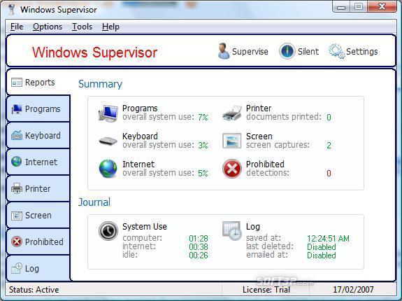 Windows Supervisor Screenshot 1