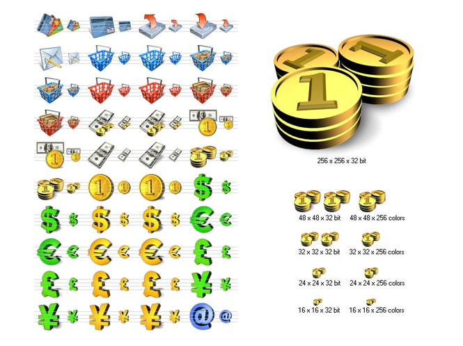 Financial Icon Library Screenshot
