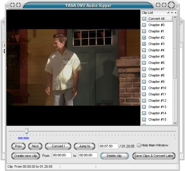 YASA DVD Audio Ripper Screenshot 3