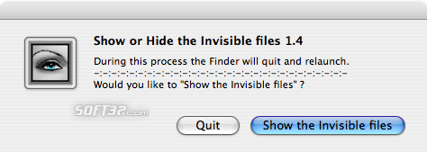 Show Hide Invisible files Screenshot 1