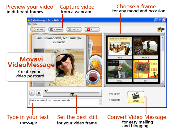 Movavi VideoMessage Screenshot