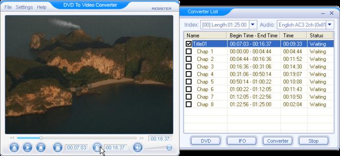 DVD to Video Converter Screenshot